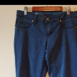 Decree Blue Denim Skinny Jeggings Juniors